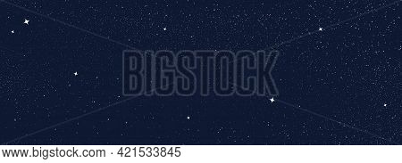 Night Sky With Stars Pattern. Surreal Universe Background. Abstract Cosmos Imagination. Surreal Star