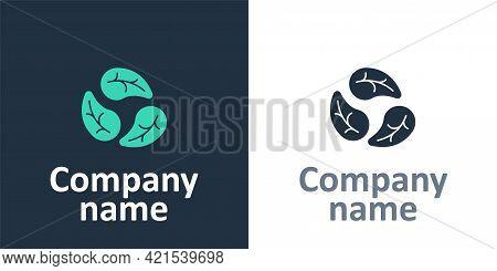 Logotype Leaf Icon Isolated Logotype Background. Leaves Sign. Fresh Natural Product Symbol. Logo Des