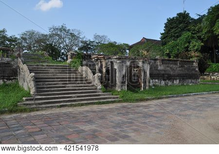 The Imperial City Within The Citadel Of The City Of Hué, Vietnam.