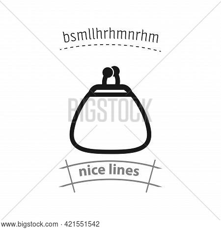 Woman Purse Simple Vector Icon. Purse Isolated Icon