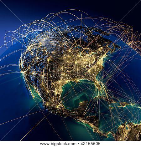 Principales rutas en América del norte