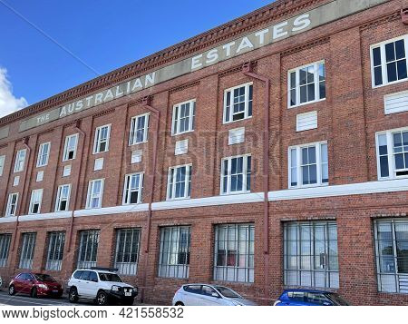 Brisbane, Australia - May 18, 2021: View Of The Australian Estates Woolstore Built In 1926 On The Te