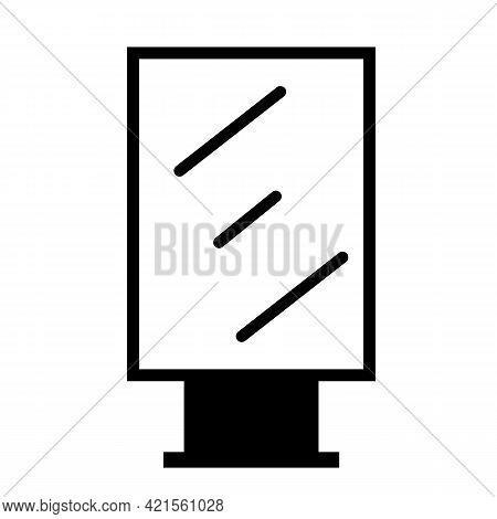 Billboard Icon On White Background. Blank Billboard For Advertisement Symbol. Citylight Display Sign
