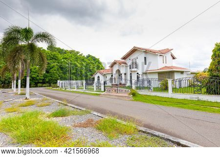 Panama David May 22, Exterior View Of A Villa With Neoclassical Architecture In A Prestigious Reside