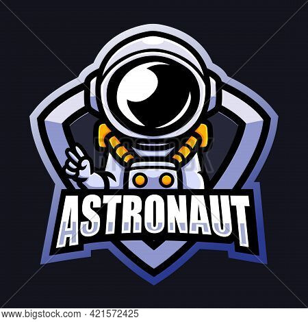 Vector Illustration Of Astronaut Mascot Esport Logo Design