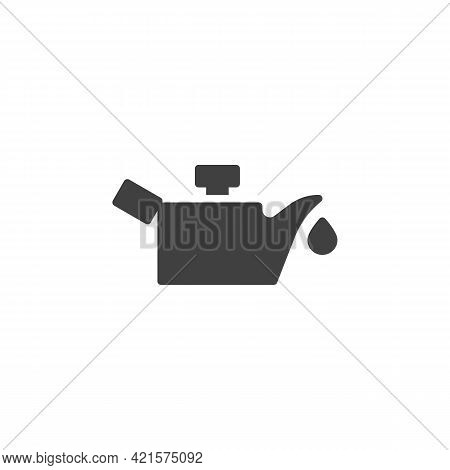 Engine Oil Pressure Vector Icon. Filled Flat Sign For Mobile Concept And Web Design. Oil Pressure In