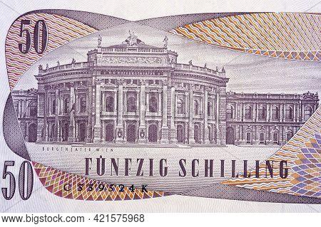 Burgtheater In Vienna From Old Austrian Money