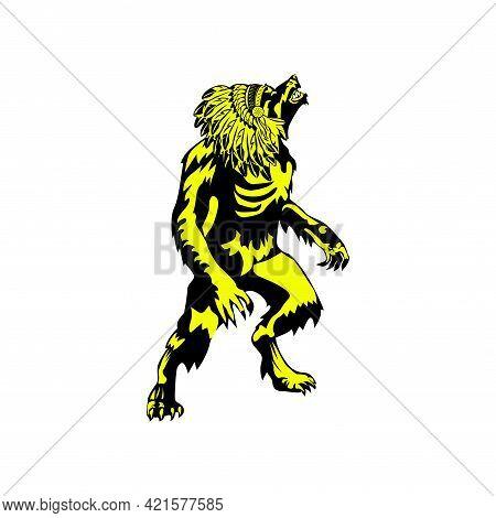 Illustration Vector Graphic Of Werewolf Logo