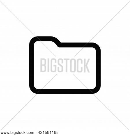 Folder Icon Isolated On White Background. Folder Icon In Trendy Design Style For Web Site And Mobile