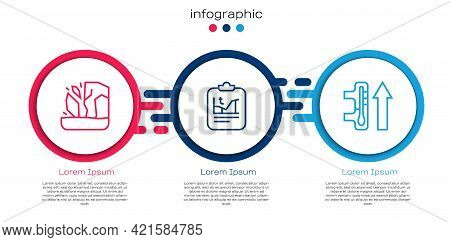 Set Line Glacier Melting, Global Warming And . Business Infographic Template. Vector