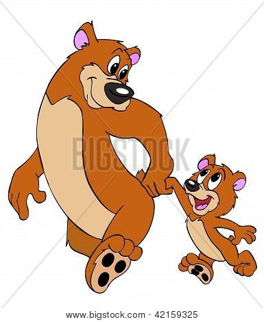 Father And Son Bears