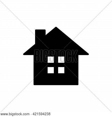 Home Or House Page Solid Black Thin Line Icon. Return To Home Page. Trendy Flat Style Isolated Symbo