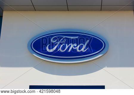 Kyiv, Ukraine - August 15, 2020: Ford Store At Kyiv, Ukraine On August 15, 2020.