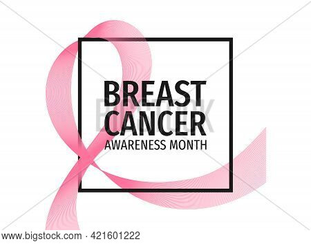 Breast Cancer Awareness Month Banner. Symbol Of The Fight Against Breast Cancer.
