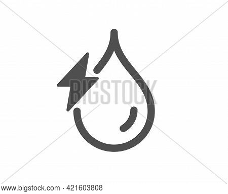 Hydroelectricity Simple Icon. Hydroelectric Energy Type Sign. Water Power Symbol. Classic Flat Style