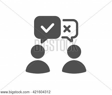 People Voting Simple Icon. Internet Vote Sign. Web Election Symbol. Classic Flat Style. Quality Desi