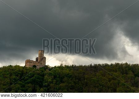 Medieval Ruined Castle In Alsace. France. Europe.