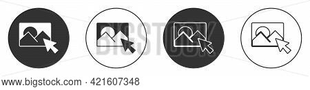 Black Photo Retouching Icon Isolated On White Background. Photographer, Photography, Retouch Icon. C