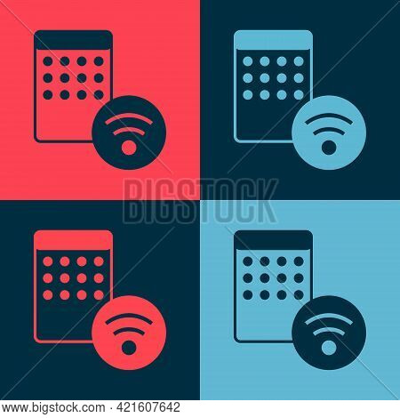 Pop Art Air Humidifier Icon Isolated On Color Background. Portable Electric Home Appliance, Home Air