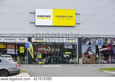 Ostrava, Czech Republic - May 3, 2021: The Storefront Of Karcher Shop Which Sells Professional Clean