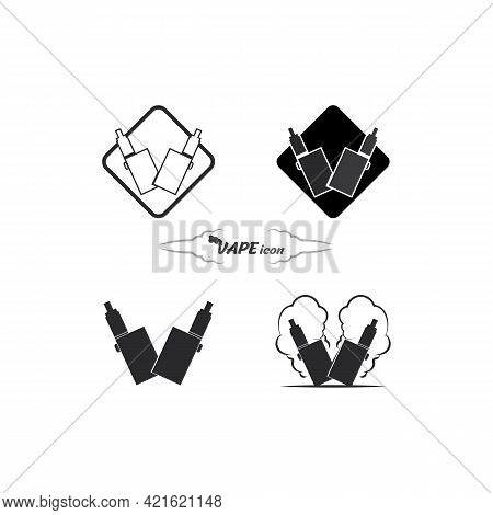 Vape And Vapor Logo Icon Smoke Vector And Set Design For Vapers Vaping Device And Lifestyle Modern S