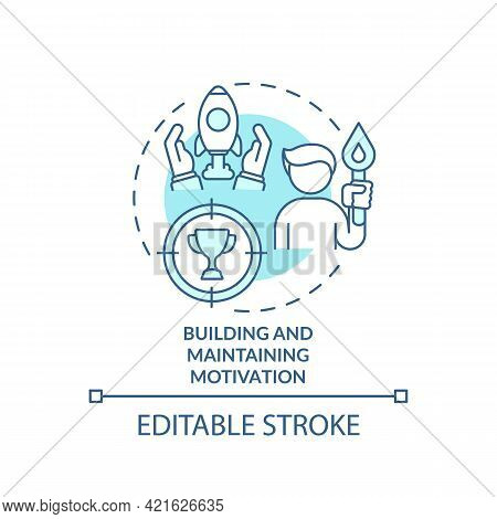 Building And Maintaining Motivation Concept Icon. Addiction Recovery Ways. Self Development. Health