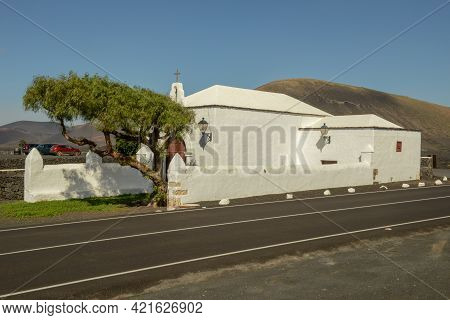 The Colonial Church Near Teguise At The Canary Island Of Lanzarote, Spain