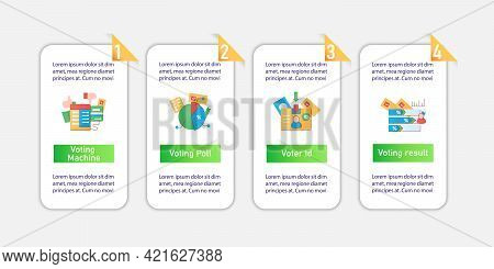 Election Vector Infographics. Voting Poll And Machine, Id Card Template Design Elements.presentation