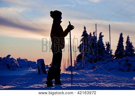 Skier Silhouette