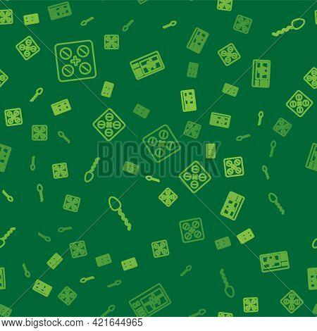 Set Line Pills In Blister Pack, Sperm And Monitor With Cardiogram On Seamless Pattern. Vector
