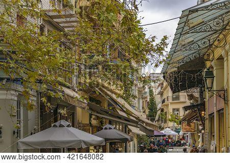 Plaka District Restaurants Zone, Athens Greece