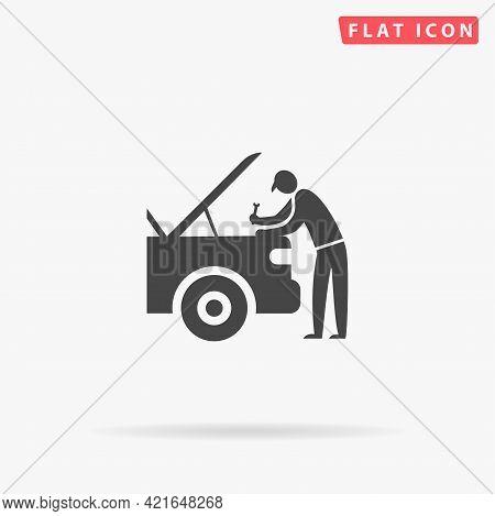Auto Mechanic Flat Vector Icon. Hand Drawn Style Design Illustrations.