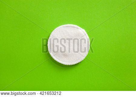 zero waste eco friendly hygiene bathroom concept. reusable washable cotton pads