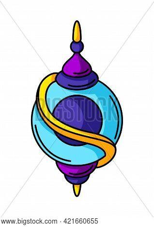 Magic Talisman Or Amulet. Mystic, Alchemy, Spirituality, Tattoo Art.