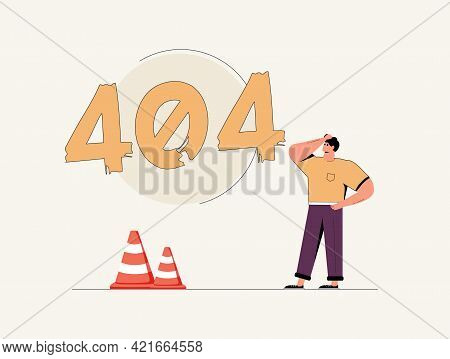 Concept 404 Error Page Or File Not Found For Web Page, Banner, Presentation, Social Media, Documents