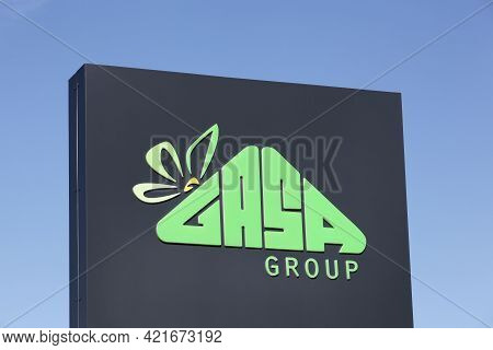 Odense, Denmark - August 13, 2020: Gasa Group Logo On A Signboard. Gasa Group Is A Danish Company Th
