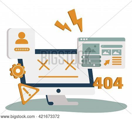 Website Page Interface Abstract Concept Vector Illustration. Sign In Page, 404 Error, Website Templa