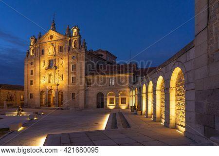 Avila, Spain - December 19, 2020: Santa Teresa De Jesús Church In Avila (world Heritage Site By Unes