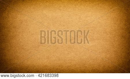 Vintage Background Of Old Rough Brown Paper With Vignette