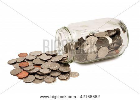 Coins Spilling Out Of Jar XXXL