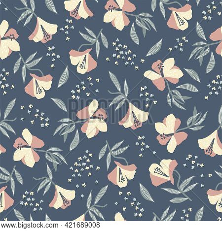 Alstroemeria Flower Motif With White Background Seamless Repeat Pattern Digital File Pattern Artwork