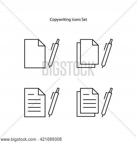 Copywriter Icons Isolated On White Background. Copywriter Icon Trendy And Modern Copywriter Symbol F