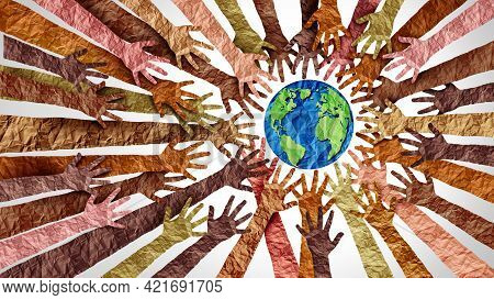 World Culture Earth Day And Global Diversity And International Cultures As A Concept Of Diverse Race