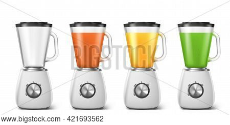 Blender, Mixer For Juice And Smoothie. Electric Kitchen Machine For Blend Smoothie, Juice And Shakes