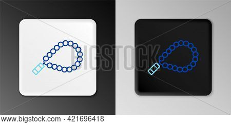 Line Rosary Beads Religion Icon Isolated On Grey Background. Colorful Outline Concept. Vector