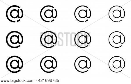The Character Set For The Dog. The Internet Symbol Is The Separator Between The Username And The Dom