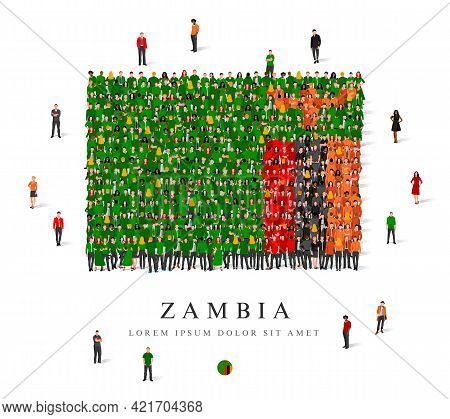 A Large Group Of People Are Standing In Green, Black, Red, Yellow And Orange Robes, Symbolizing The