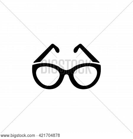 Eyeglasses Solid Black Line Icon. Glasses For Eyesight Or Sunscreen. Trendy Flat Isolated Symbol Use