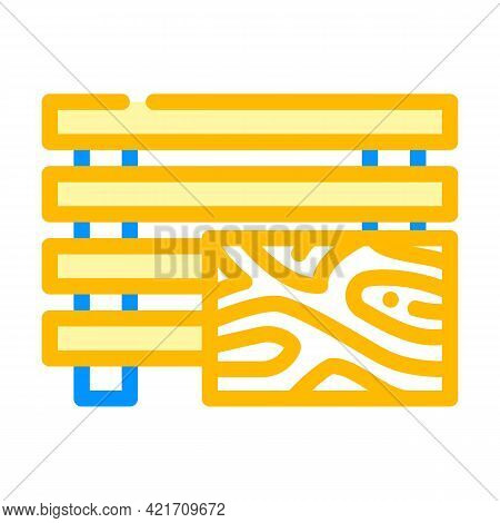 Treated Wood Building Material Color Icon Vector. Treated Wood Building Material Sign. Isolated Symb