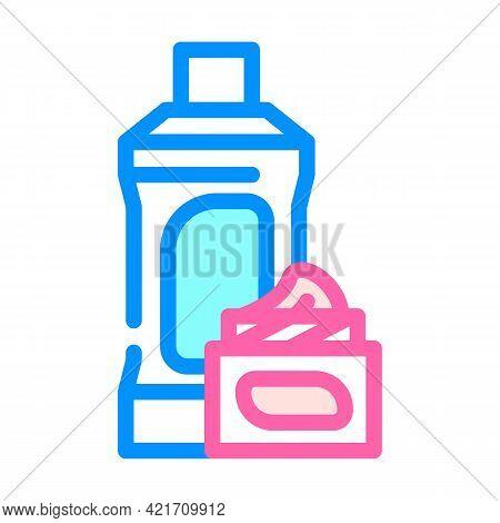 Chemical Liquid For Car Polishing Color Icon Vector. Chemical Liquid For Car Polishing Sign. Isolate